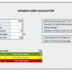 Kanban Card Calculator Spreadsheet
