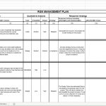 Risk Management Plan Spreadsheet