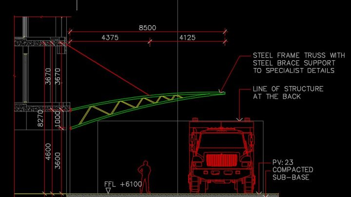 Steel Brace Support Autocad Free Drawing