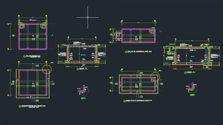 Underground Water Tank Details autocad Free Drawing