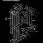 Wood Platform Frame Construction Autocad Drawing