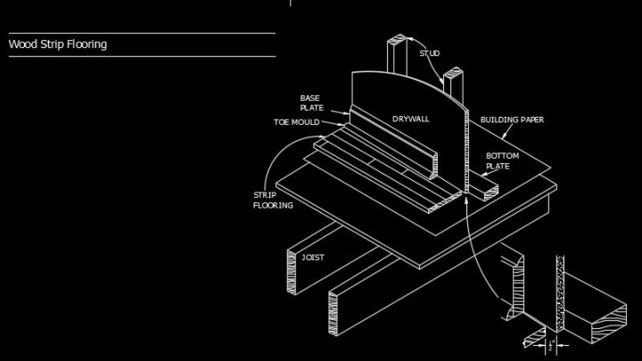 Wood Strip Flooring Autocad Drawing Detail