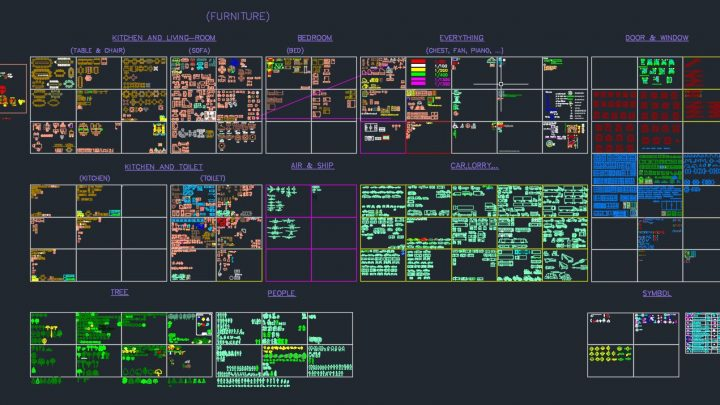 A complete Autocad Library DWG Format