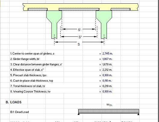 Design of Precast Plank Spreadsheet