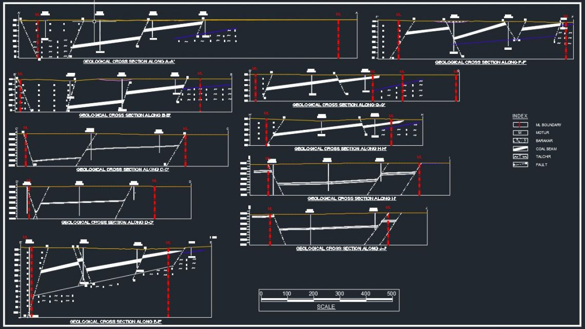 Geological Cross Section Autocad Template