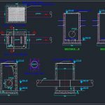 Magnetic Flowmeter Manhole Autocad Drawing