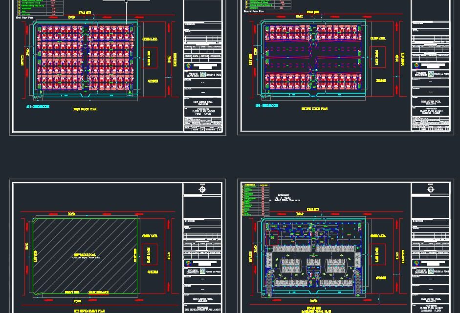 Motor Pool Building Plans Autocad Drawing