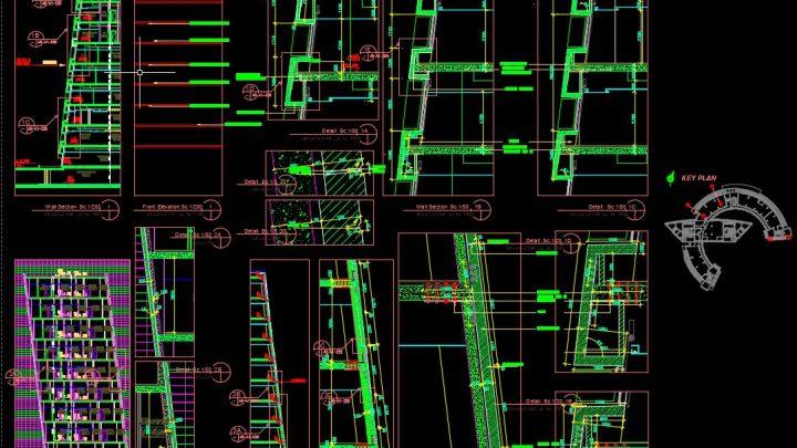 Precast Concrete Walls Details Autocad Drawing
