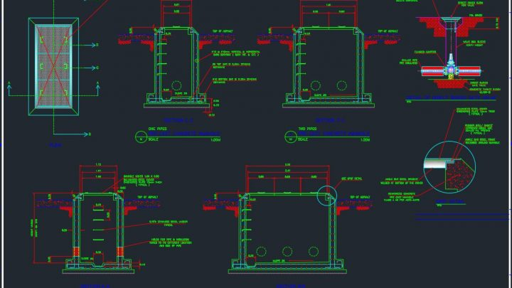 Reinforced Precast Chiller Manhole Autocad Drawing
