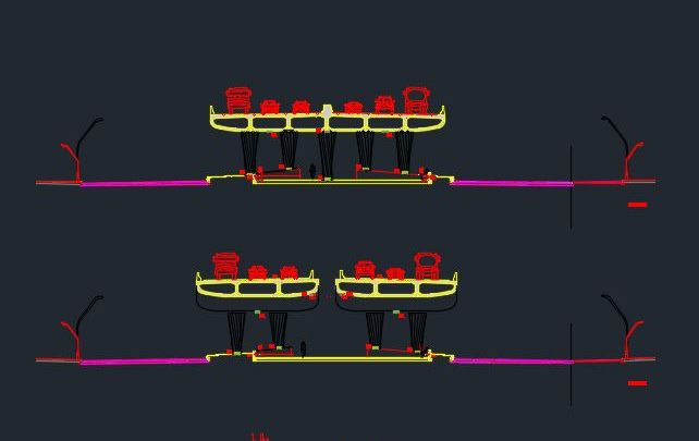 Roads Arc Lighting Details Autocad Drawing