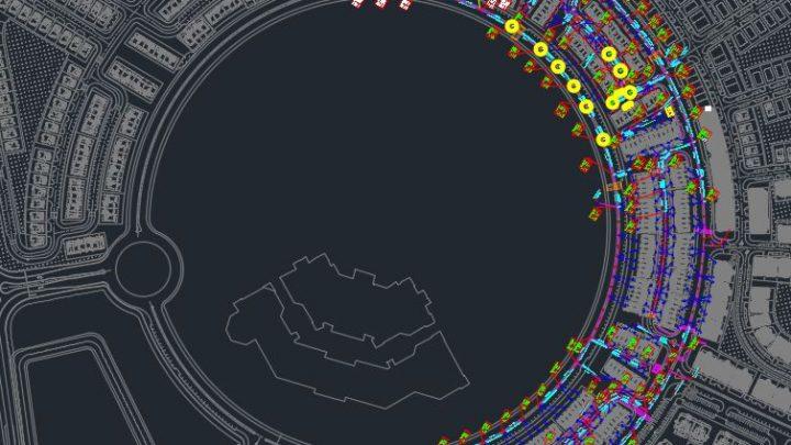 Sewage Manhole Layout Plan Autocad Drawing