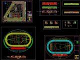Stadium Layout and Elevation Plan Autocad Drawing
