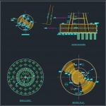 Tank Piles Foundation Details Autocad Drawing