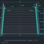 Typical Reinforced embankment – Autocad Drawing
