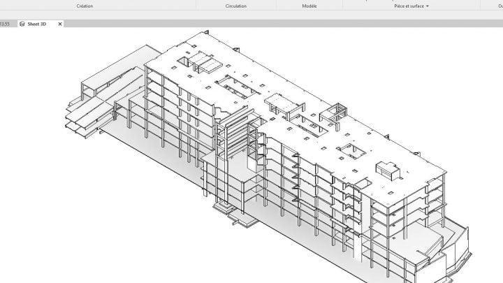3D Hospital Model Revit Structure
