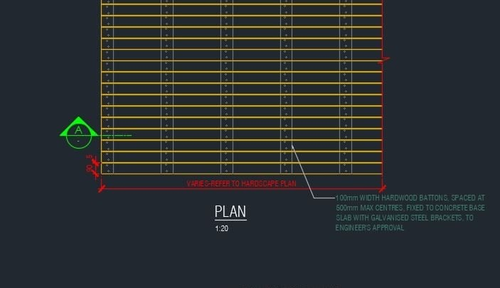 Typical Detail Timber Deck Autocad Drawing