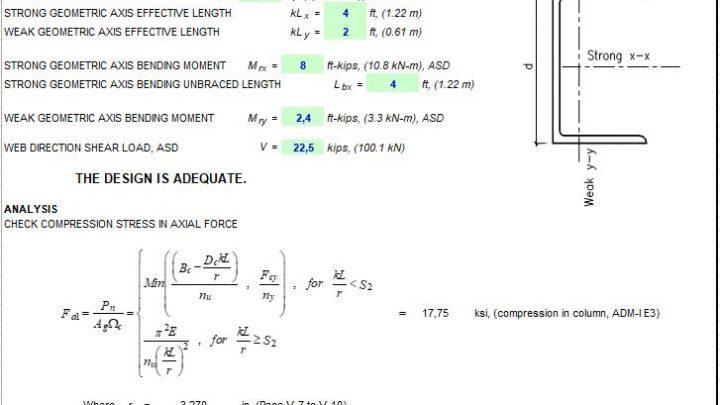 Aluminium C or CS Member Capacity Spreadsheet