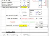 Design Of Flanged Section With Tension Reinforcement According To ACI 318 Spreadsheet