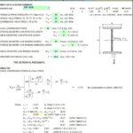 Aluminium I or WF Member Capacity Spreadsheet