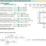 Aluminium RT Member Capacity Spreadsheet