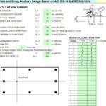 Anchorage to Concrete Design Spreadsheet