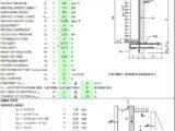 Restrained Retaining Masonry Wall Design Spreadsheet