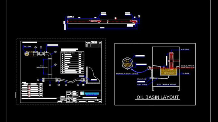 Oil Basin Accessories Layout Autocad Free File