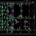 Steel Framing Detail Podium Autocad Free File