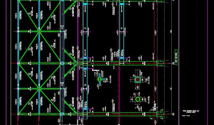 Steel Framing Detail Podium Autocad Free File
