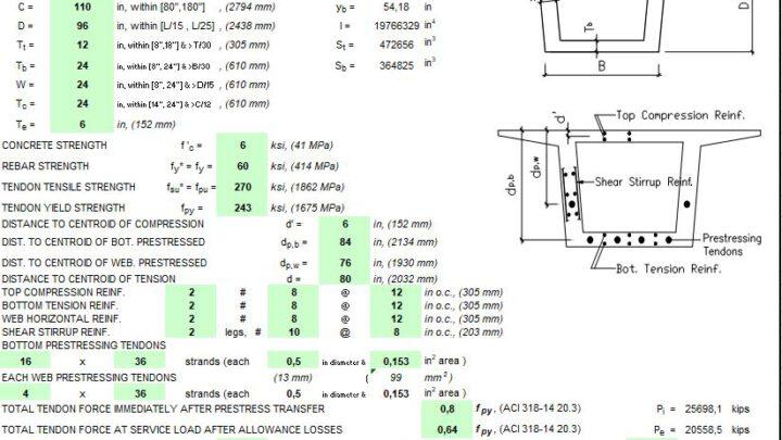 Bridge Design For Prestressed Concrete Box Section Spreadsheet