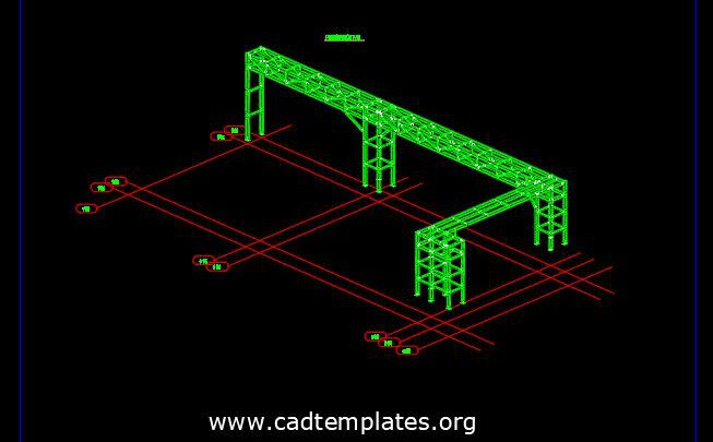 Cable Bridge (Cable Tray) Free Autocad Drawing