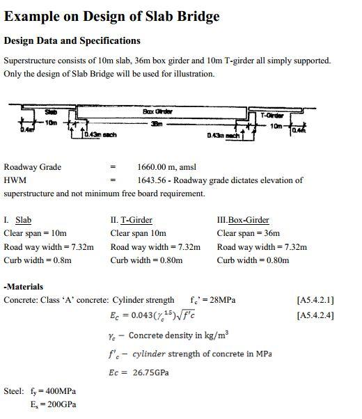Example On Design Of Slab Bridge Free PDF