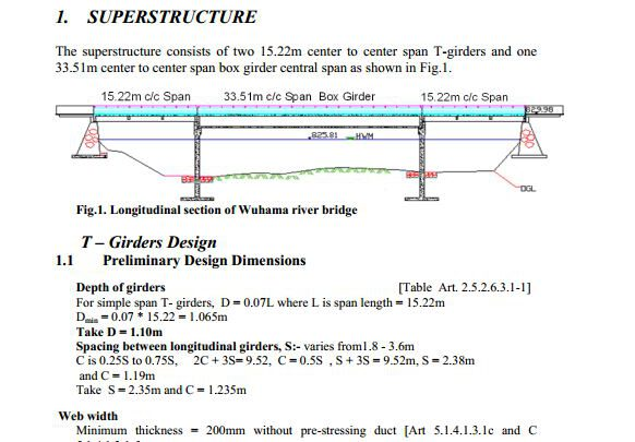 T-Girder Bridge Calculation Note Example
