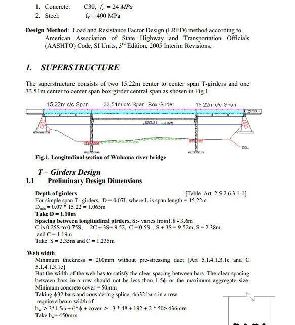 T-Girder Bridge Calculation Note Example