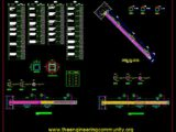 Bored Pile Layout and Section Details Autocad Drawing DWG