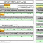 Density-VMT Calculator Spreadsheet