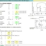 Design For Equipment Anchorage To Bottom Concrete Spreadsheet