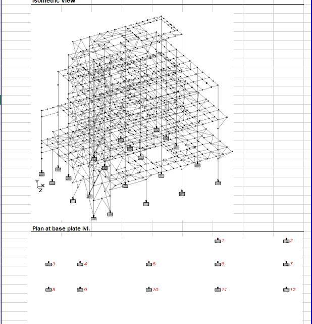 Full Steel Building Design Calculation Spreadsheet