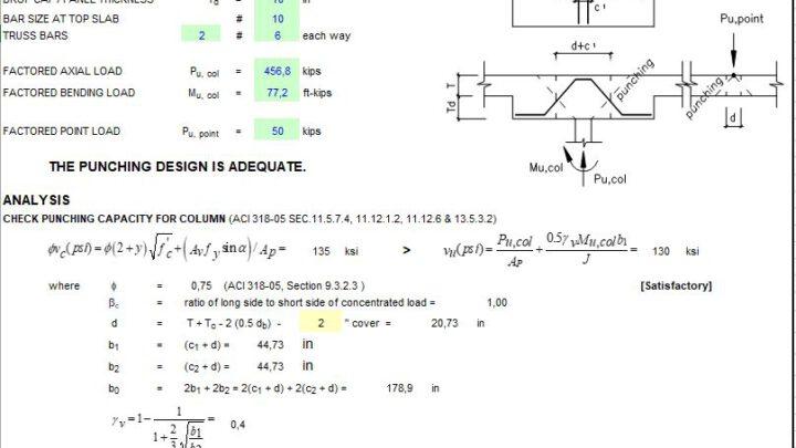 Slab Punshing Design Spreadsheet