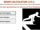 Beam Calculator according to Structural Steel Building 2005 Spreadsheet