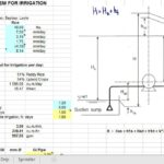 Design A pumping System For Irrigation Spreadsheet