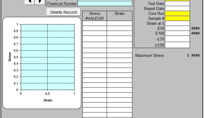 Laboratory Test Spreadsheet Template