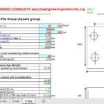 Pile Cap Design and Calculation Spreadsheet