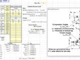 Riveted Plate Girder Section Properties Spreadsheet