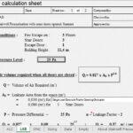 Stairwell Pressurisation Design Calculation Spreadsheet