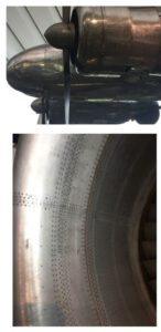 Two historical examples of the use of rivets on the Lockheed Electra and RB211engine nacelle.