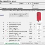Expansion Tank Sizing For Hydronic Systems Spreadsheet