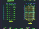 Roof Truss Auditorium Autocad Free DWG