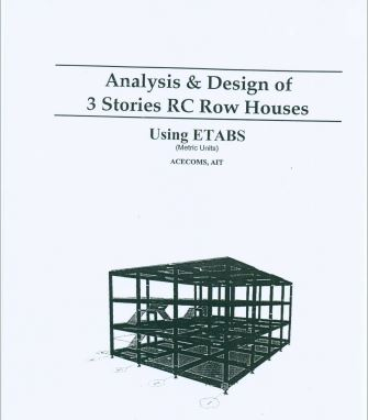 Analysis And Design Of 3 Stories RC Row Houses Using Etabs