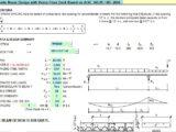 Composite Beam Design With Verco Floor Deck Spreadsheet